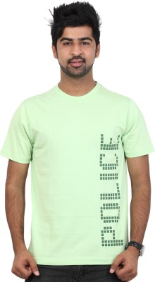 Police Printed Men's Round Neck Green T-Shirt