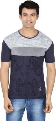 Minute Merge Printed Men's Round Neck Blue, Grey T-Shirt