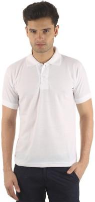 Velgo Solid Men's Polo Neck White T-Shirt