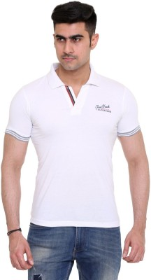 FAST TRACK Solid Men's Polo Neck White T-Shirt