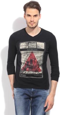 Killer Printed Men's V-neck Black T-Shirt