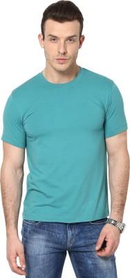 Cherymoya Solid Men's Round Neck Green T-Shirt