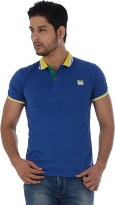 Lawman Solid Men's Polo Blue T-Shirt