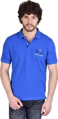 Royal Sport League Solid Men's Polo Neck Blue T-Shirt