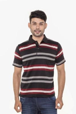 Gleneagles Striped Men's Polo Neck Multicolor T-Shirt