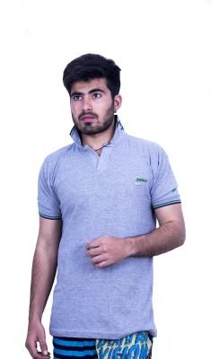 Khaiber Solid Men's Polo Grey T-Shirt