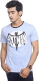 Batman Printed Men's Round Neck Blue T-S...
