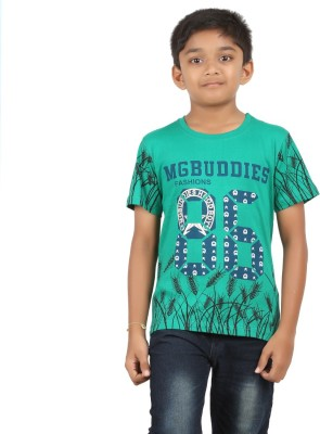 Jack43 Printed Boy's Round Neck Green T-Shirt