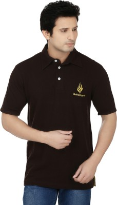 Fizzaro Solid Men's Polo Brown T-Shirt