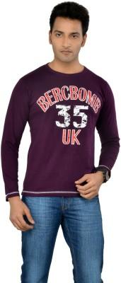 TSG Escape Printed Men's Round Neck Purple T-Shirt