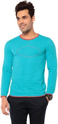 Ebry Solid Men's Henley Light Blue T-Shirt