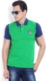 Numero Uno Solid Men's Polo Neck Green T...