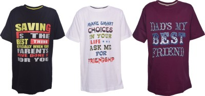 Farico Printed Boy's Round Neck T-Shirt