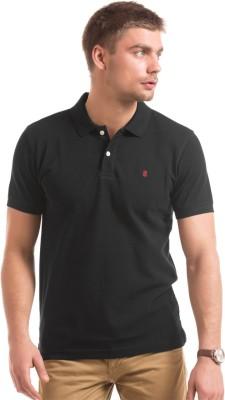 Izod Solid Men's Polo Neck Black T-Shirt