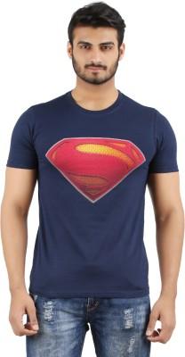 MA Printed Men's Round Neck Dark Blue T-Shirt