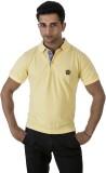 Groviano Solid Men's Polo Neck Yellow T-...