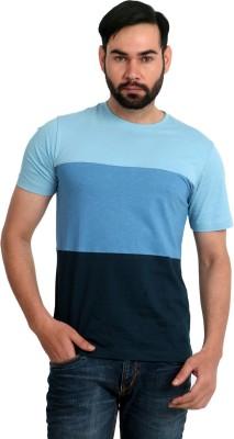 Urban Republic Solid Men's Round Neck Light Blue, Blue, Dark Blue T-Shirt