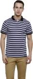 Rigo Striped Men's Polo Neck Blue T-Shir...