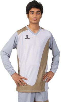 Triumph Printed Men's V-neck Grey T-Shirt