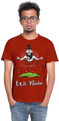 BINDAS BANDA Graphic Print Men's Round Neck Maroon T-Shirt