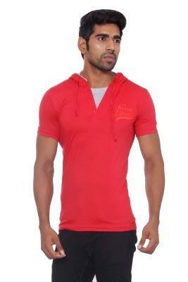 Pezzava Self Design Men's Hooded Reversible T-Shirt