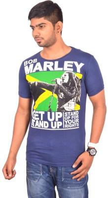 Rogue Printed Men's Round Neck Dark Blue T-Shirt