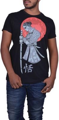 Cotton Candy Graphic Print Men,s Round Neck Black T-Shirt