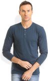 Thisrupt Solid Men's Round Neck Blue T-S...