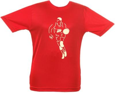 Anthill Graphic Print Boy's Round Neck Red T-Shirt