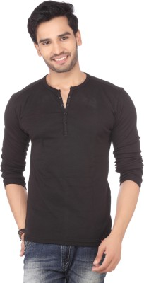 DXI Solid Men's Henley T-Shirt