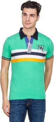 Vidyuth Traders Self Design Men's Polo Neck White T-Shirt