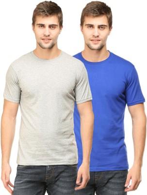 Tee Talkies Solid Men's Round Neck Multicolor T-Shirt