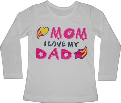 Little Throne Graphic Print Girl's Round Neck White T-Shirt