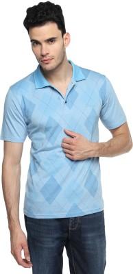 Swing9 Printed Men's Polo Neck Light Blue T-Shirt