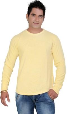 StyleToss Solid Men's Round Neck Yellow T-Shirt