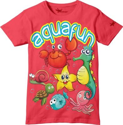 Grasshopr Graphic Print Baby Boy's Round Neck T-Shirt