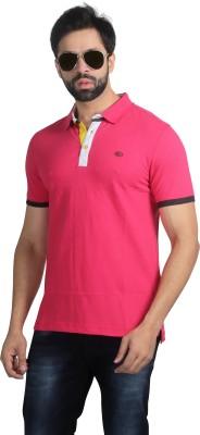 Nostrum Jeans Solid Men's Polo Neck Pink, White, Dark Blue T-Shirt