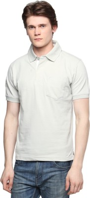 Tempt Embroidered Men's Polo Neck Grey T-Shirt