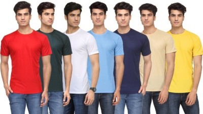 Rico Sordi Solid Men's Round Neck Multicolor T-Shirt