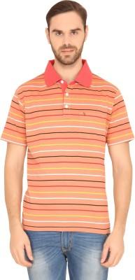 SWISS CLUB Striped Men's Polo Neck Multicolor T-Shirt