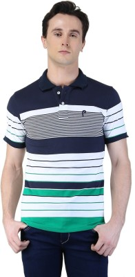 Puffz Striped Men's Polo Multicolor T-Shirt