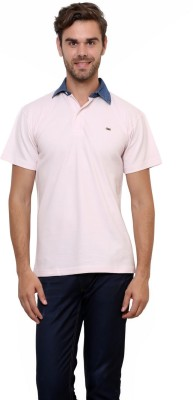 Lemon & Vodka Solid Men's Polo Neck T-Shirt