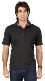 Valeta Solid Men's Polo Neck Grey T-Shir...