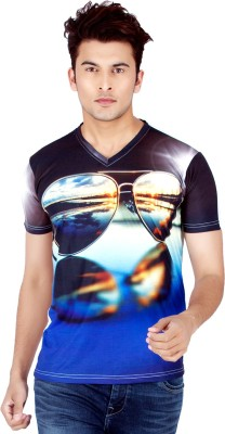 Integriti Printed Men's V-neck Multicolor T-Shirt