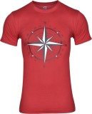 Humtees Printed Men's Round Neck Red T-S...