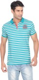 Stoke Striped Men's Polo Neck Light Blue...