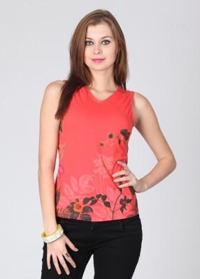 Elle Printed Women's V-neck T-Shirt