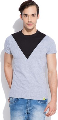 Silly People Solid Men's Round Neck Grey T-Shirt