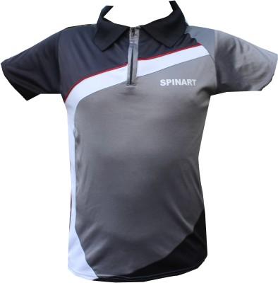 SPINART Self Design Men,s, Women's Flap Collar Neck T-Shirt