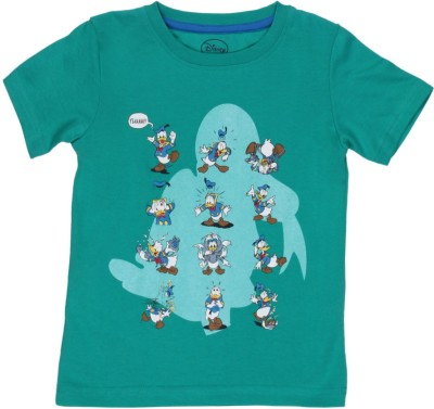 Chalk by Pantaloons Printed Boy's Round Neck Light Green T-Shirt